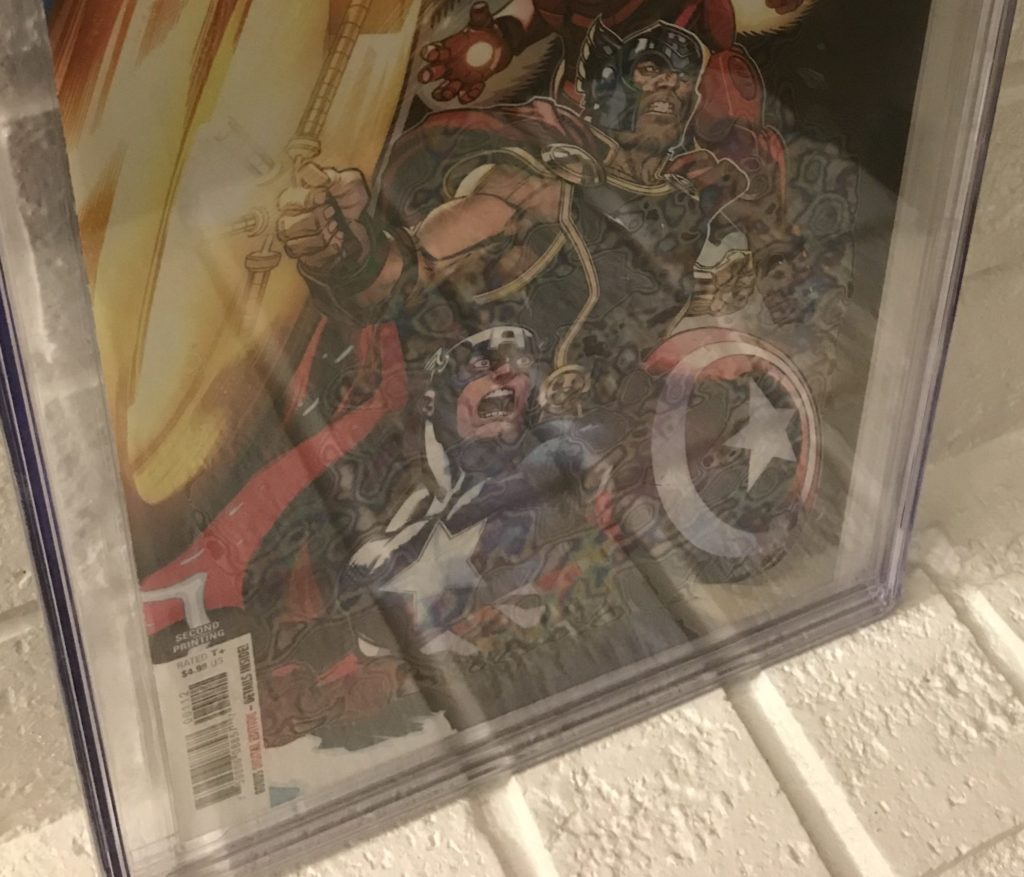 Avengers 1 CGC Comic Book Case Newton Rings