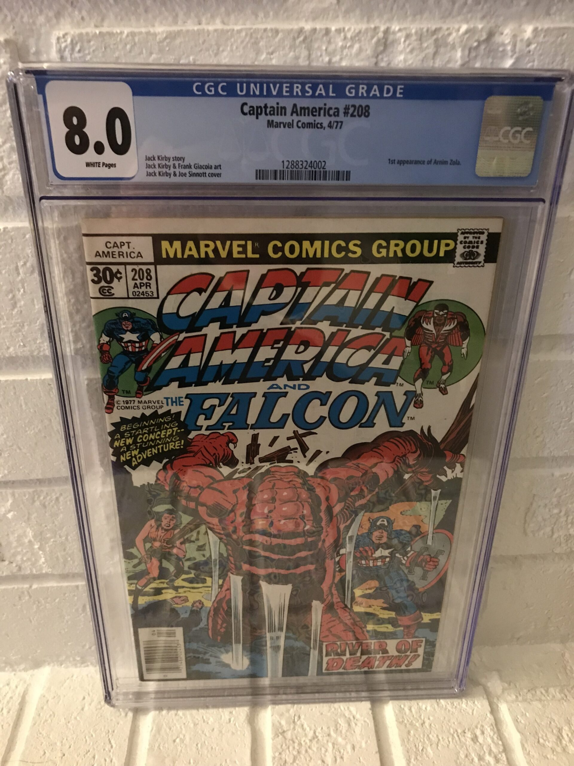 Captain America 208 CGC Comic Book Case Newton Rings