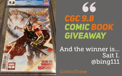 Winner of the Thor #1 God of Thunder Reborn – CGC 9.8 Comic Book!